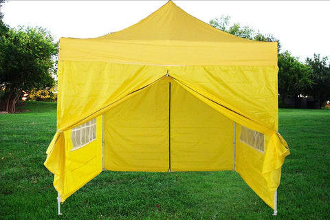 F Model 10'x10' Yellow - Pop Up Tent Pro