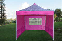 E Model 10'x10' Pink Zebra - Pop Up Tent