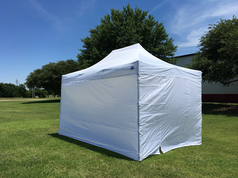 D/S Model 10'x15' White - Pop Up Tent Canopy Shelter Shade with Weight Bags and Storage Bag