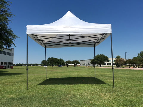 D Model 10'x15' White - Pop Up Tent Canopy Shelter Shade with Weight Bags and Storage Bag