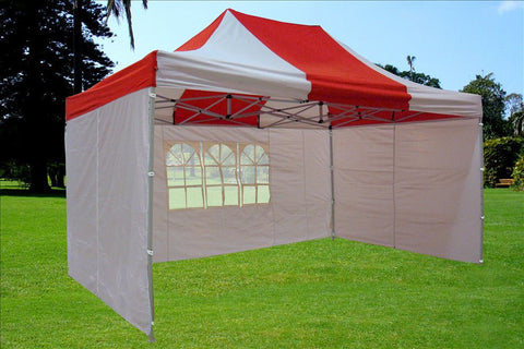F Model 10'x15' Red White - Pop Up Tent  Pro