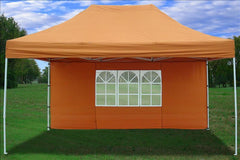 F Model 10'x15' Burnt Orange - Pop Up Tent Pro