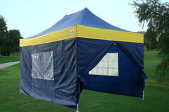 E Model 10'x15' Navy Blue Yellow - Pop Up Tent