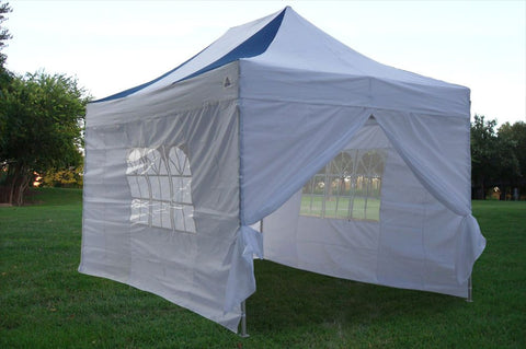 F Model 10'x15' Navy Blue/White - Pop Up Tent Pro