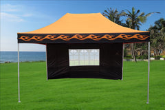 F Model 10'x15' Orange Flame - Pop Up Tent  Pro