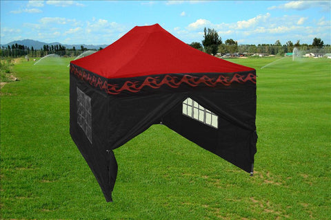 E Model 10'x15' Red Flame - Pop Up Tent