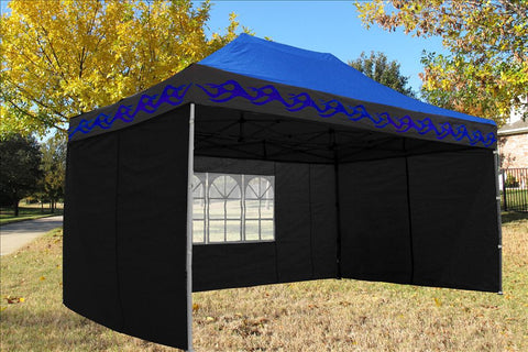 F Model 10'x15' Blue Flame - Pop Up Tent  Pro