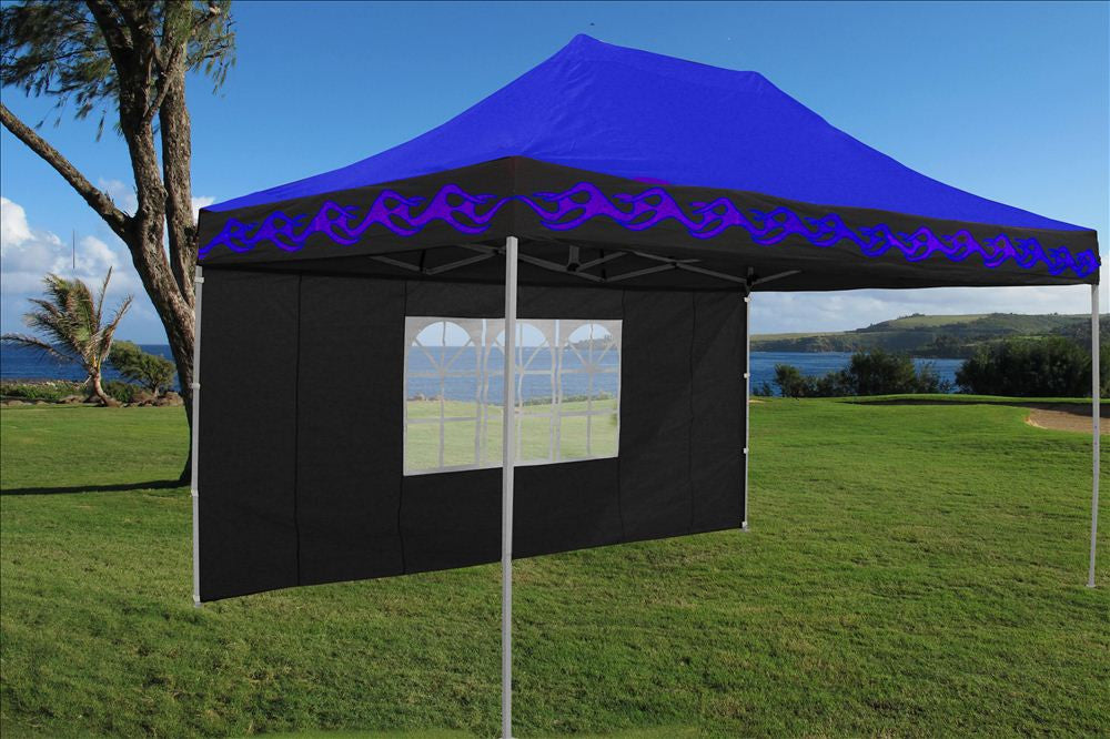 E Model 10 X15 Blue Flame Pop Up Tent Deltacanopy