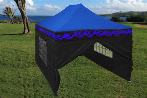 E Model 10'x15' Blue Flame - Pop Up Tent