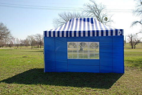 E Model 10'x15' Blue Stripe - Pop Up Tent