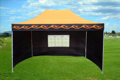 E Model 10'x15' Orange Flame - Pop Up Tent