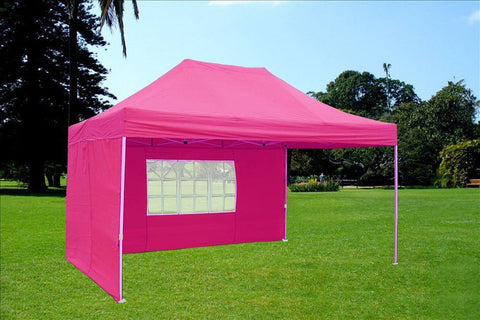 F Model 10'x15' Pink - Pop Up Tent Pro