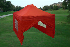E Model 10'x15' Red - Pop Up Tent