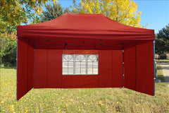 F Model 10'x15' Red - Pop Up Tent  Pro