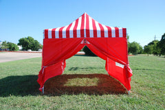 E Model 10'x15' Red Stripe - Pop Up Tent