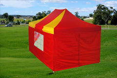 F Model 10'x15' Red Yellow - Pop Up Tent Pro