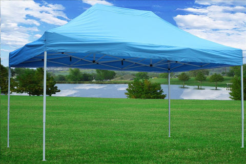 E Model 10'x15' Sky Blue - Pop Up Tent