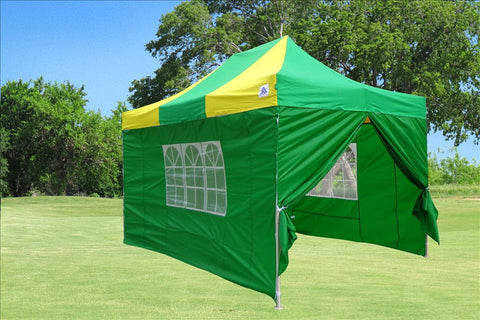 E Model 10'x15' Green Yellow - Pop Up Tent