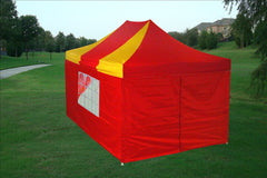 E Model 10'x15' Red Yellow - Pop Up Tent