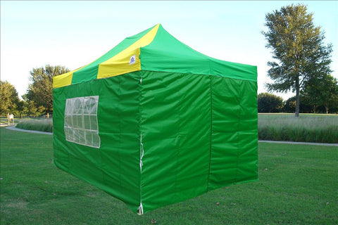 F Model 10'x15' Green Yellow - Pop Up Tent  Pro