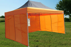 F Model 10'x15' Black Orange - Pop Up Tent Pro