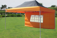 E Model 10'x15' Black Orange - Pop Up Tent