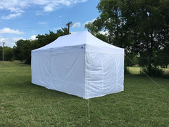 F/S Model 10'x20' White - Pop Up Tent Pro with Solid Walls