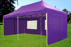 F Model 10'x20' Purple - Pop Up Tent Pro