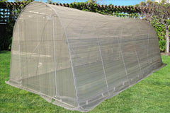 Greenhouse 20'x10'+Sun Shade Cover - Round Top Walk-in Nursery