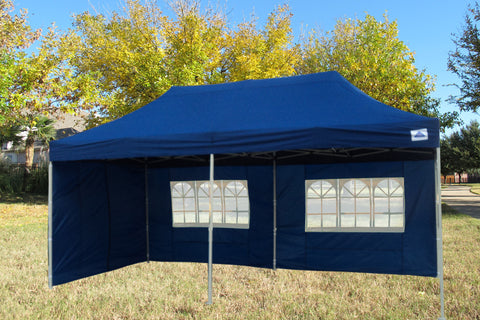 E Model 10'x20' Navy Blue - Pop Up Tent