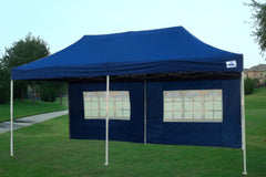 F Model 10'x20' Navy Blue - Pop Up Tent Pro