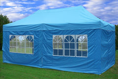 F Model 10'x20' Sky Blue - Pop Up Tent Pro