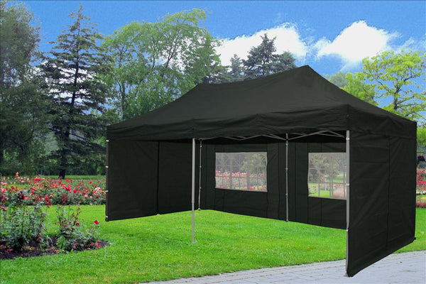 Black 10 X20 Pop Up Tent Pop Up Shade Ez Up Style Tents
