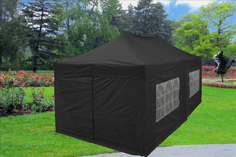 F Model 10'x20' Black - Pop Up Tent Pro