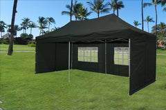 E Model 10'x20' Black - Pop Up Tent