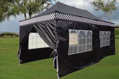E Model 10'x20' Black Checker - Pop Up Tent