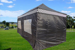F Model 10'x20' Black Checker - Pop Up Tent Pro
