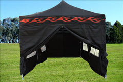 F Model 10'x20' Black Flame - Pop Up Tent Pro