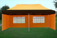 F Model 10'x20' Black Orange - Pop Up Tent Pro