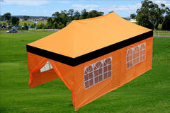 E Model 10'x20' Black Orange - Pop Up Tent