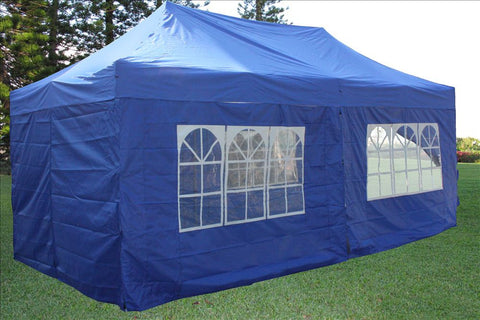 E Model 10'x20' Blue - Pop Up Tent