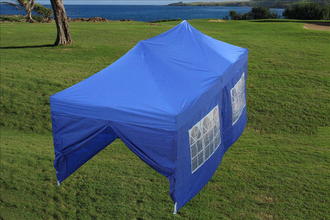 F Model 10'x20' Blue - Pop Up Tent Pro