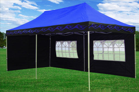 E Model 10'x20' Blue Flame - Pop Up Tent
