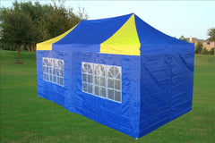 E Model 10'x20' Blue Yellow - Pop Up Tent