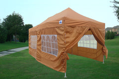 E Model 10'x20' Burnt Orange - Pop Up Tent