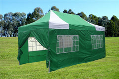 E Model 10'x20' Green White - Pop Up Tent