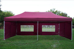 F Model 10'x20' Maroon - Pop Up Tent Pro