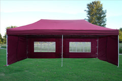 E Model 10'x20' Maroon - Pop Up Tent