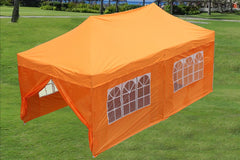 E Model 10'x20' Orange - Pop Up Tent