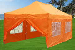 F Model 10'x20' Orange - Pop Up Tent Pro